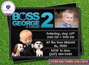 Boss Baby Invitation Boss Baby Birthday Boss Baby Party Boss Baby