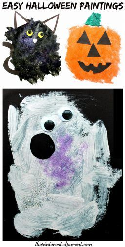 Easy Halloween Paintings – The Pinterested Parent