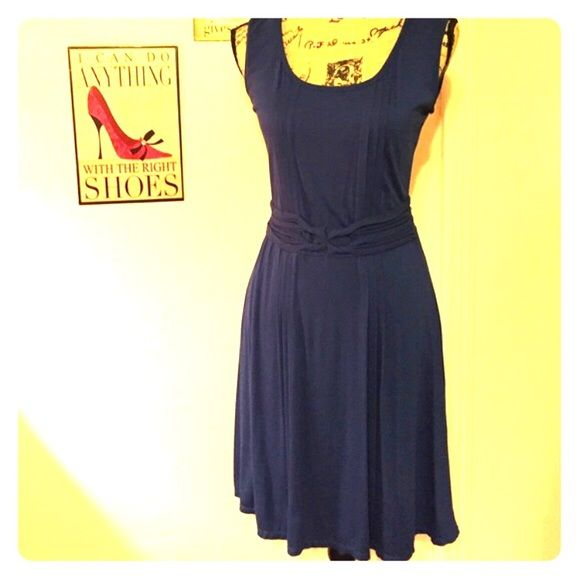 Max studio dark Royal blue dress. Beautiful dress I bought from someone's closet but too small. It says medium but more like a small. Like new and nice soft fabric. Max Studio Dresses
