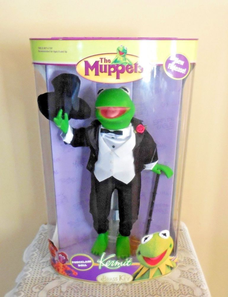 The Muppets Kermit Porcelain Doll By Brass Key