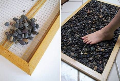 River Rock Mat For Rinsing Off Feet By The Pool Bath Mat Diy