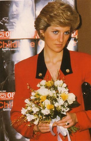 January 12, 1990:  Princess Diana opening the Childline's London Headquarters in Islington.  Princess Diana served as a supporter from 1986 - 1997.  She was involved from the start of the project, made donations and opened childline offices, launching an appeal and meeting staff. Childline is the only free national helpline for children in trouble or danger.