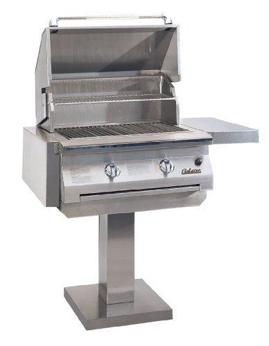 Solaire 30inch Infravection Propane Boltdown Post Grill Stainless
