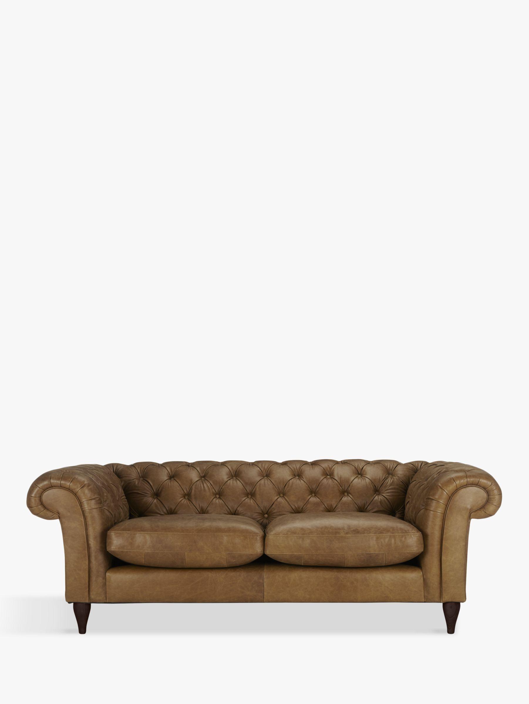 John Lewis Partners Cromwell Chesterfield Grand 4 Seater Leather Sofa Dark Leg Contempo Dark Chocolate Sofa Large Sofa Leather Sofa