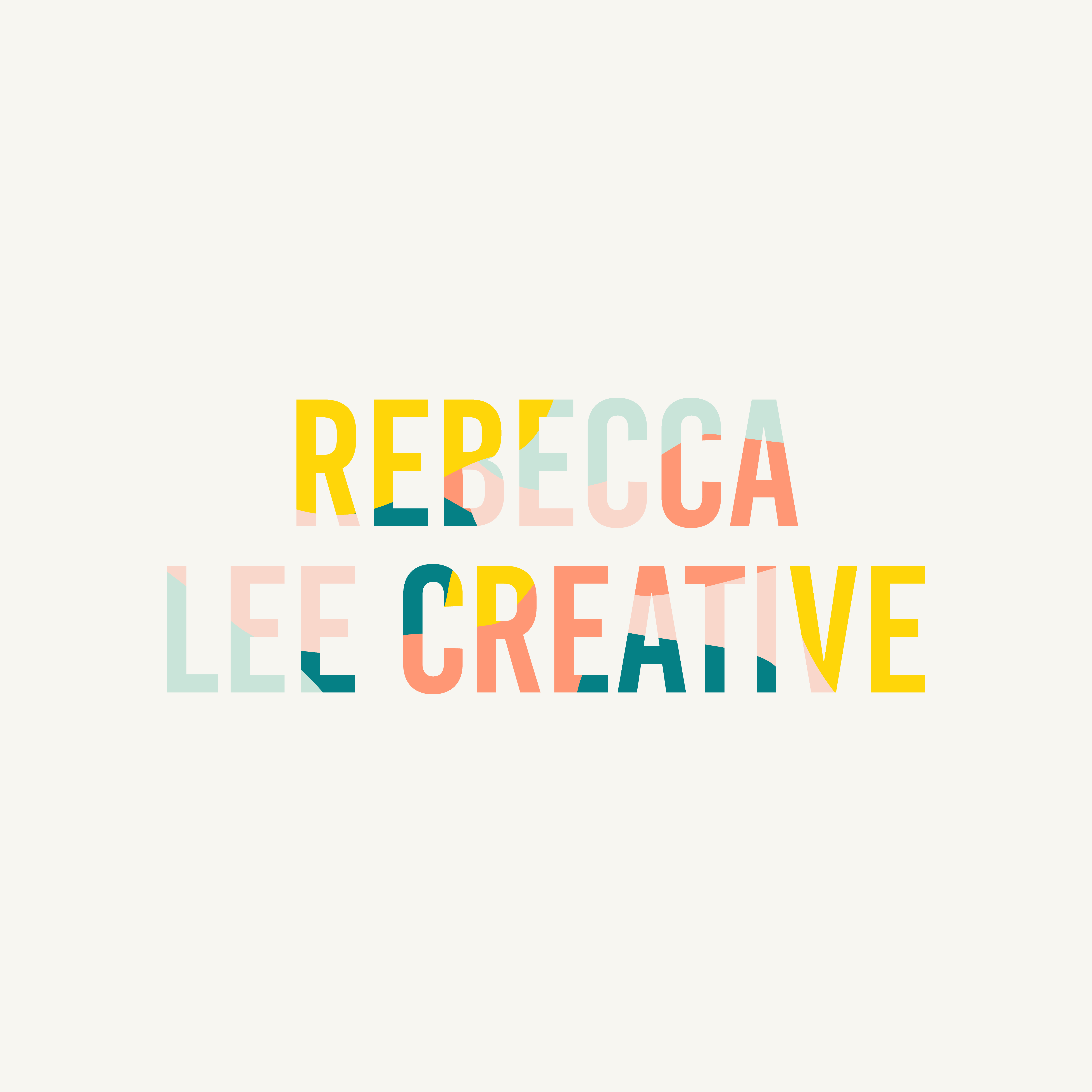 Gelato colours & playful typography layouts by Rebecca Lee Creative