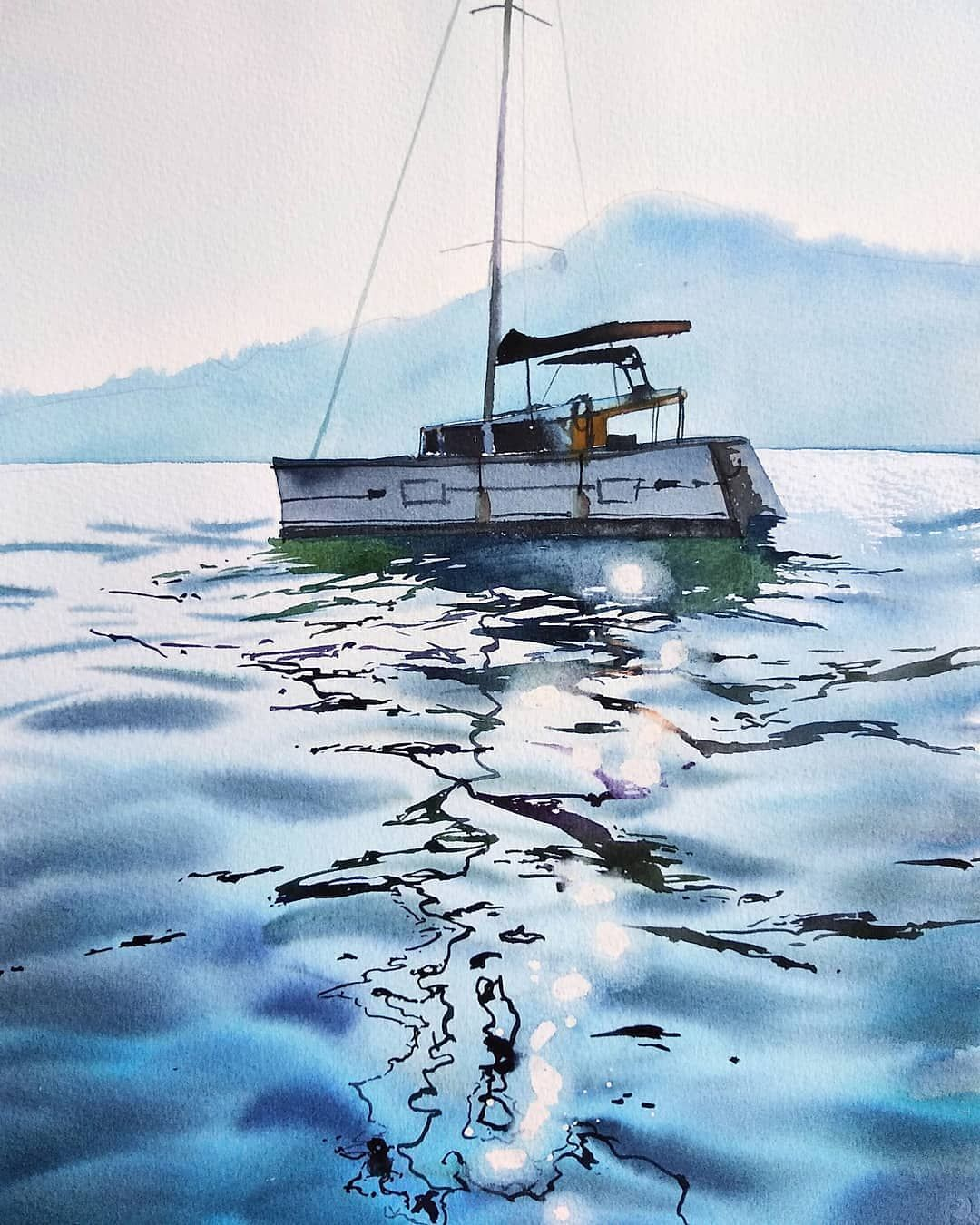 Watercolor Picture Akvarel Xtina Gavrilova Art V Instagram