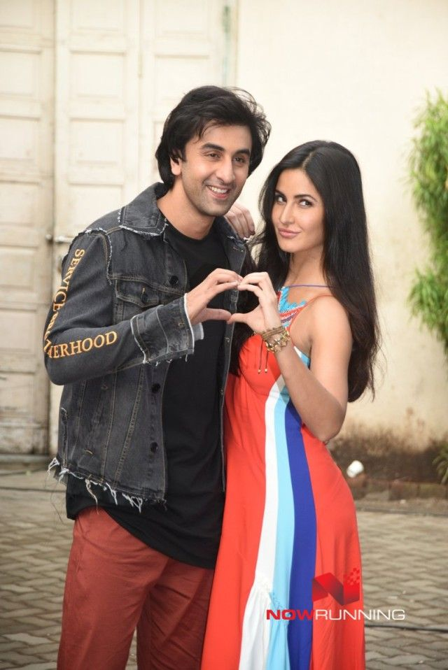 Ranbir Kapoor And Katrina Kaif Snapped Promoting Their Film Jagga Jasoos Bollywood Couples Katrina Kaif Ranbir Kapoor