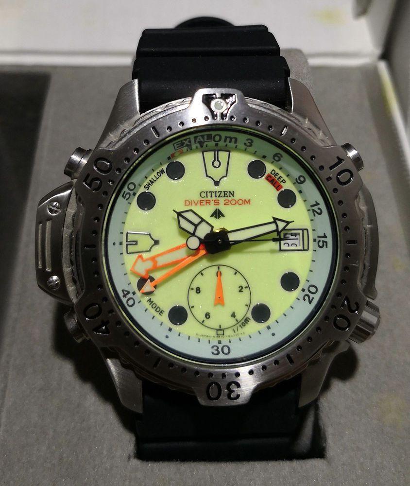 dba63a84e86 1998 Citizen Promaster Aqualand Natulite 200m Diver Watch 5812-F80006.