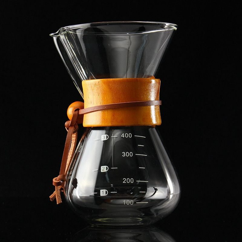 400ml/3 Cups Classic Glass Maker Coffee Pot Espresso Ice