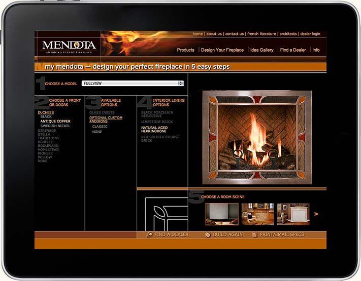 Mendota Fireplace Website Design Your Own Fireplace Configurator