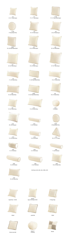 decorative pillow guide info tools pinterest kissen sofas und sessel. Black Bedroom Furniture Sets. Home Design Ideas