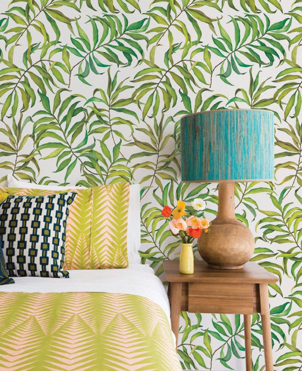 Tropical Leaves Wallpaper Peel and Stick Home decor