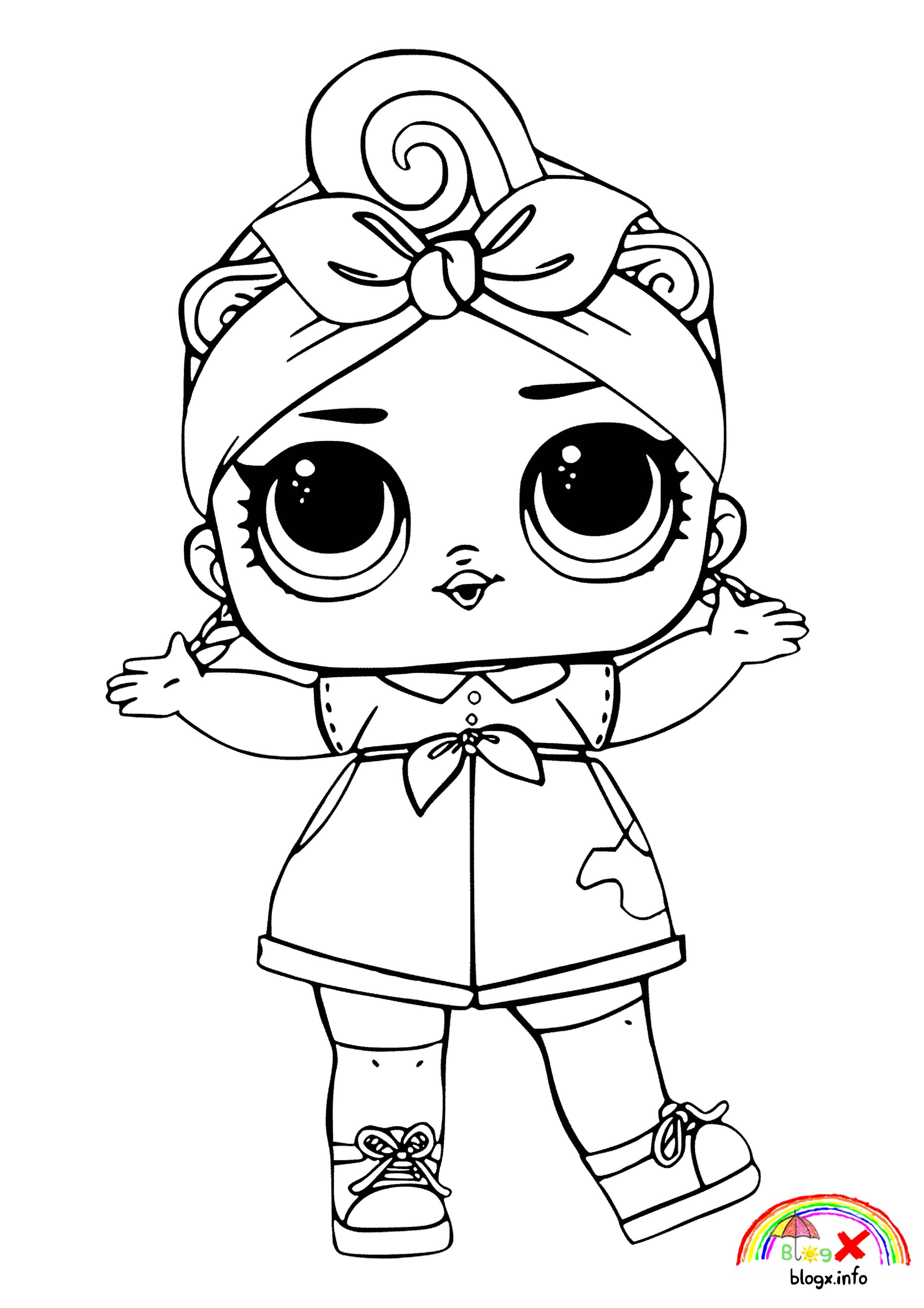 Hd Babe Lol Dolls Coloring Page With Images Cool Coloring