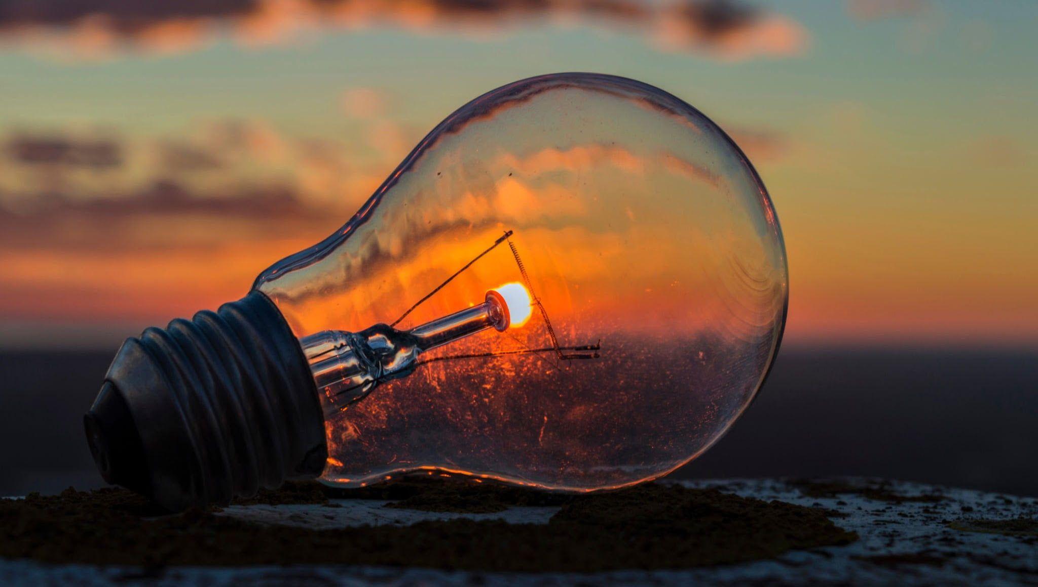 Sun Light Bulb 1080p Wallpaper Hdwallpaper Desktop Bulb Photography Light Bulb Art Light Bulb