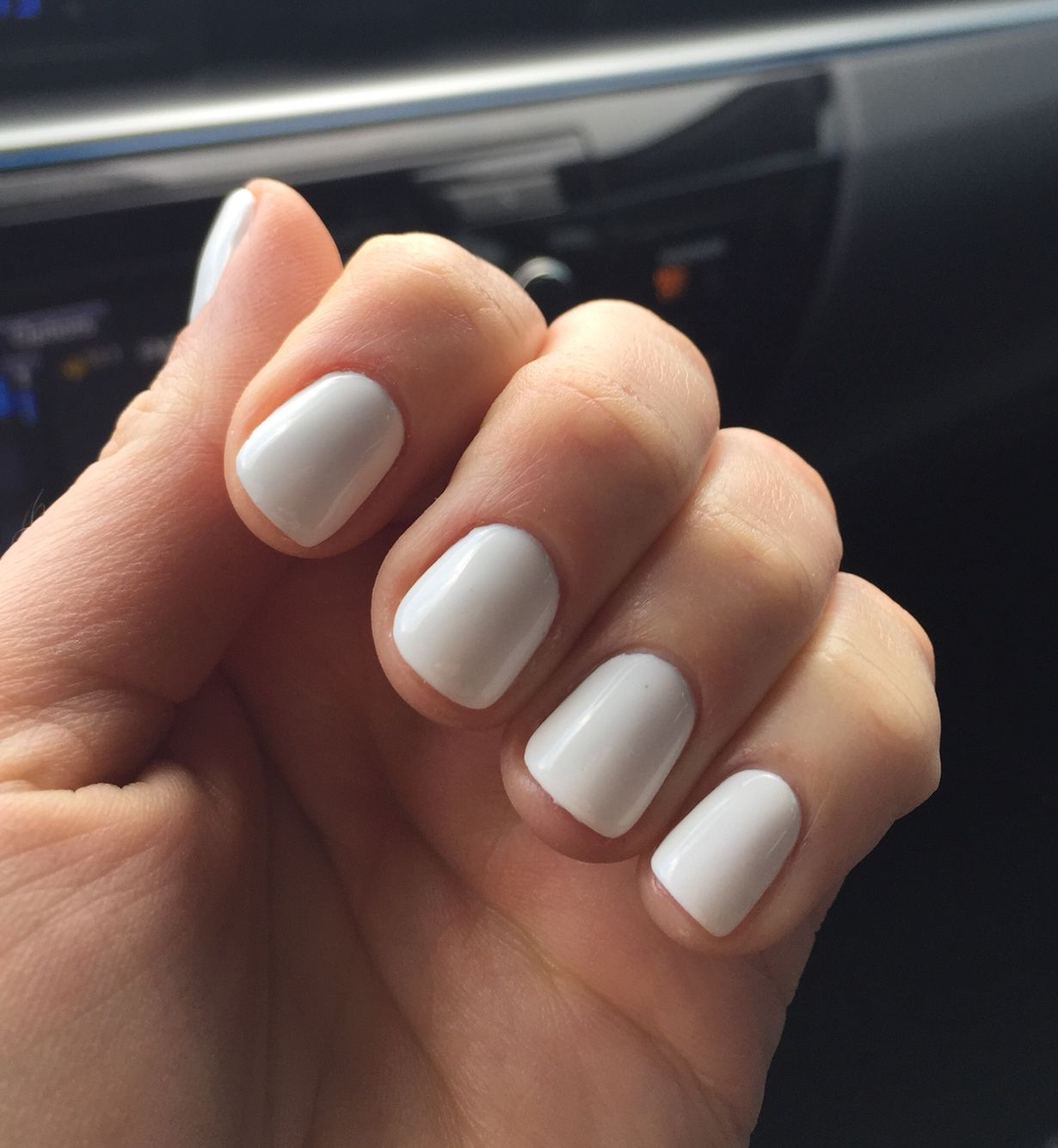 There This Is Nice Classy And Simple Not Like Those Long Claws That Some Girls Have Scary White Shellac Nails White Gel Nails White Shellac