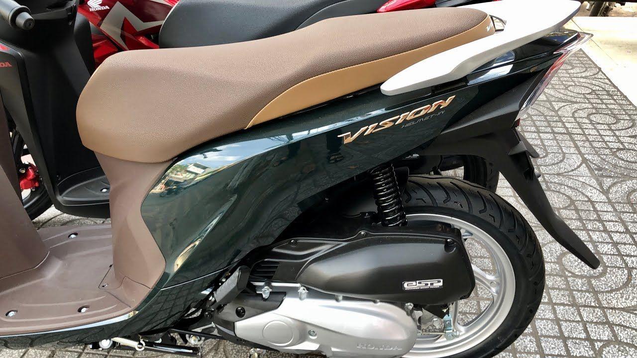 Honda Vision 110 Green Color Xanh đậm Walkaround In 2020 Green Colors Honda Haircuts For Men