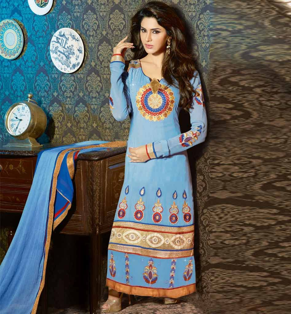 Karachi style long straight #DesignerSalwarKameez dress | Anarkali ...