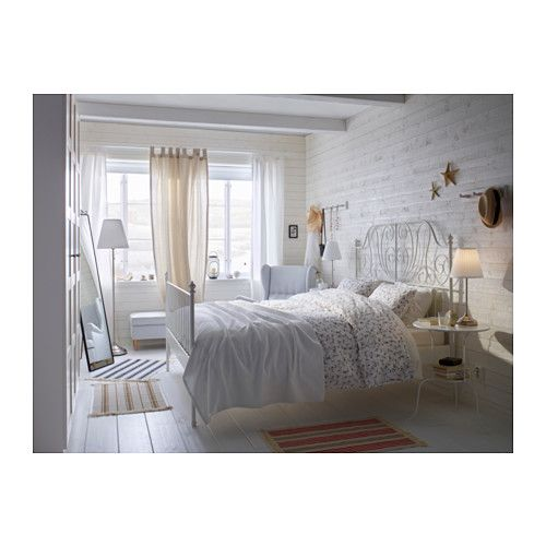 Boxspringbett 140x200 ikea  LEIRVIK Estructura cama, blanco | Bed frames, Bedrooms and Room