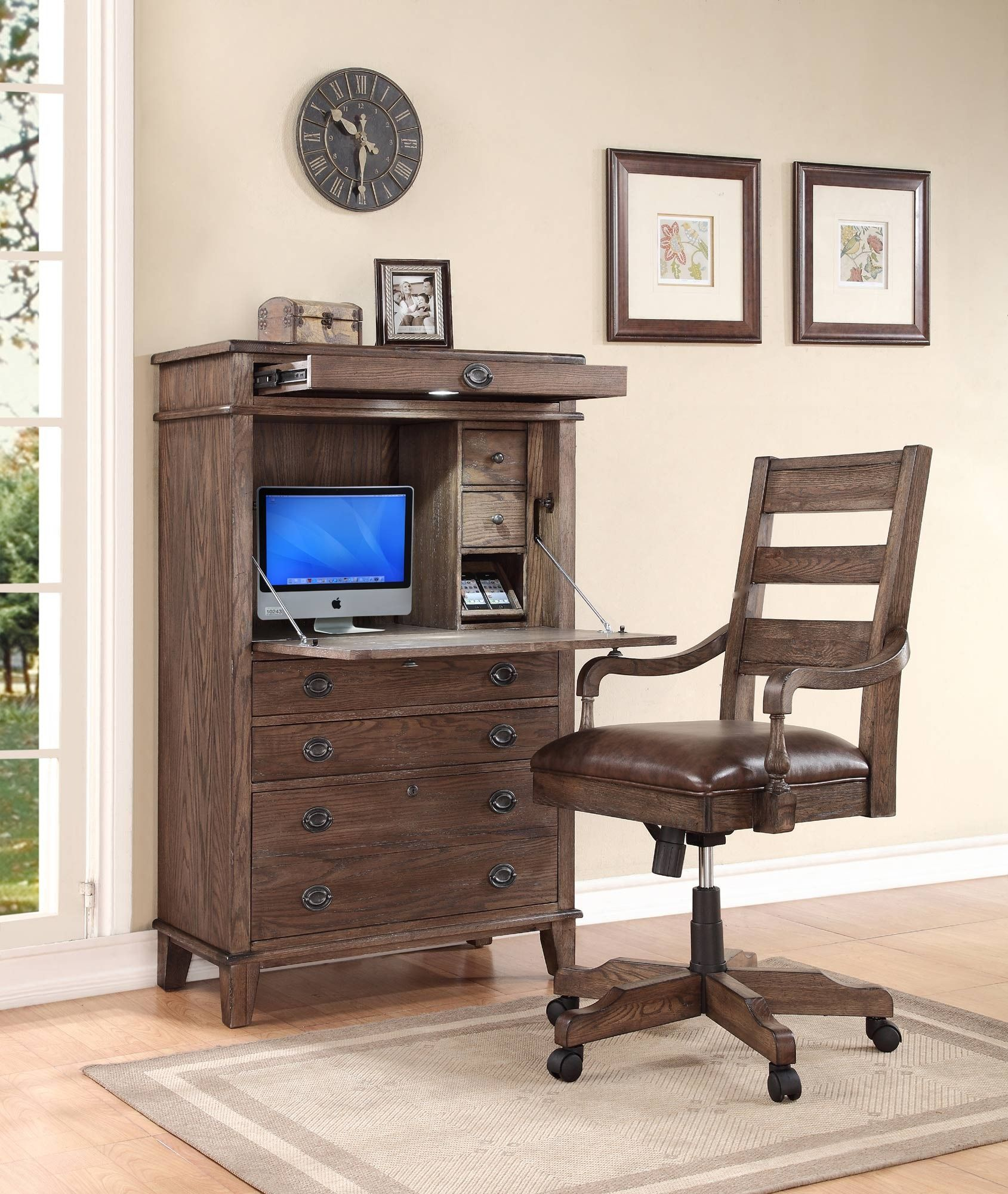 Harrison Flats Secretary Desk Home Office Chairs Furniture Vancouver Home