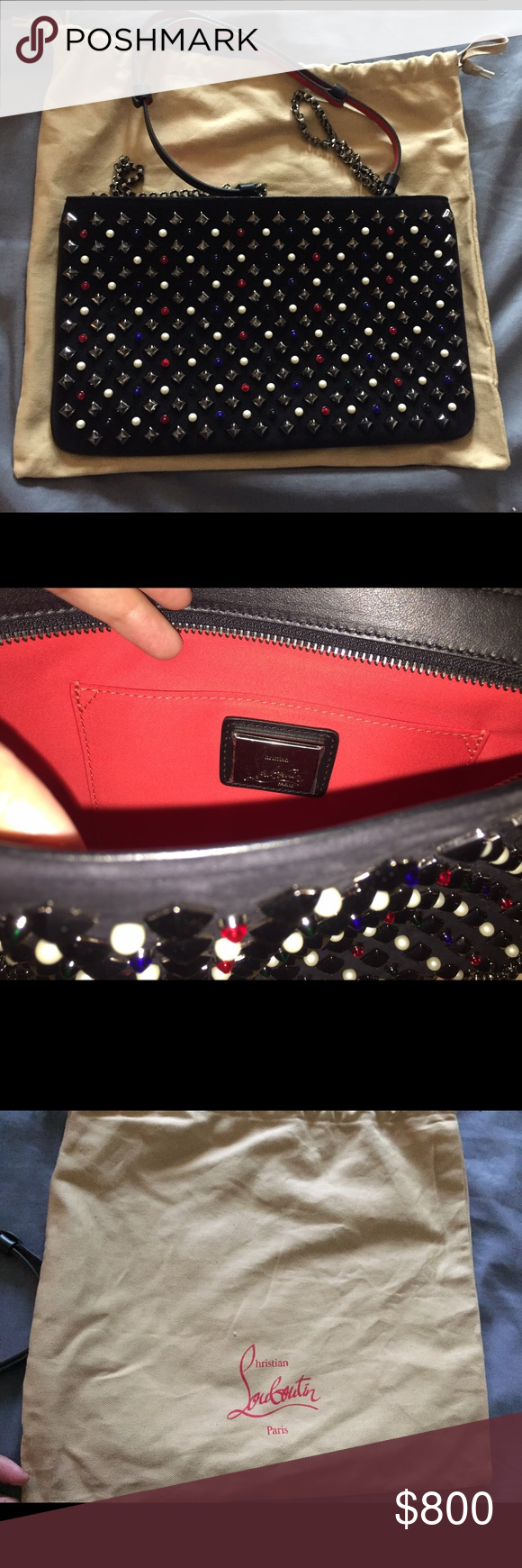 Christian Louboutin purse! Brand new. Never used got as a present. Has handles to carry on shoulder. Christian Louboutin Bags Shoulder Bags