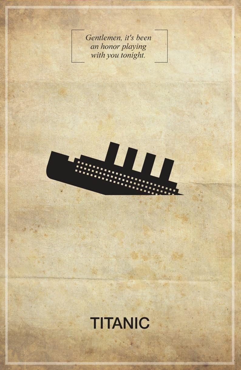 Titanic Memorable Quote Vintage Movie Poster Print in 2019