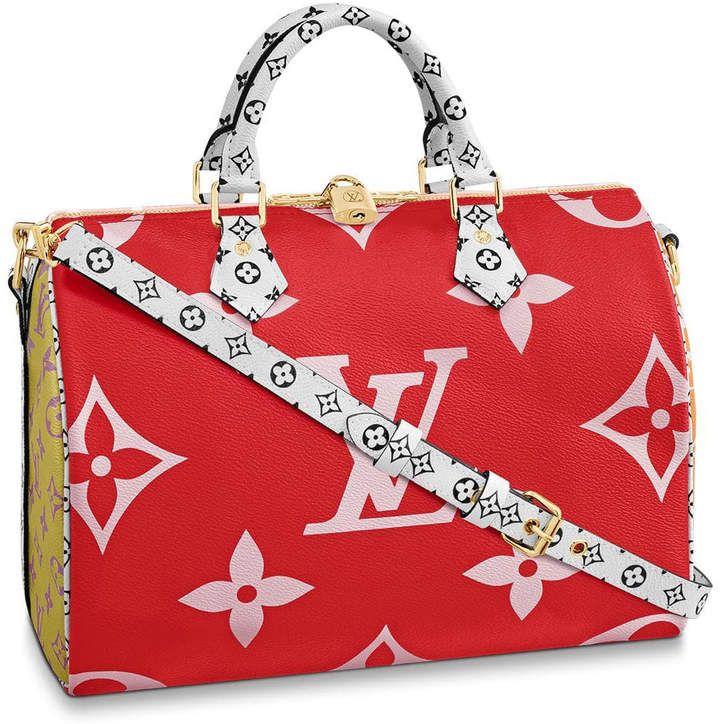 Louis Vuitton Speedy Bandouliere Monogram Giant 30 Red Pink In 2020 Louis Vuitton Speedy Bandouliere Louis Vuitton Louis Vuitton Handbags