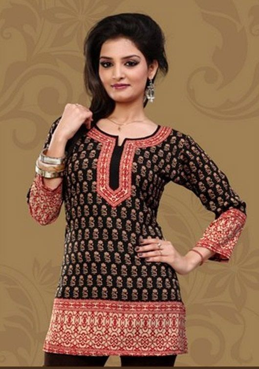 ba7493f3ac66 Indian Designer Crepe tops blouse kurta Kurtis-Tunics for Women ...