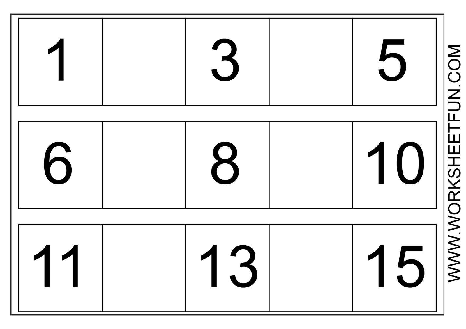 Free Printable Worksheets for Preschool | Missing Numbers Worksheets ...