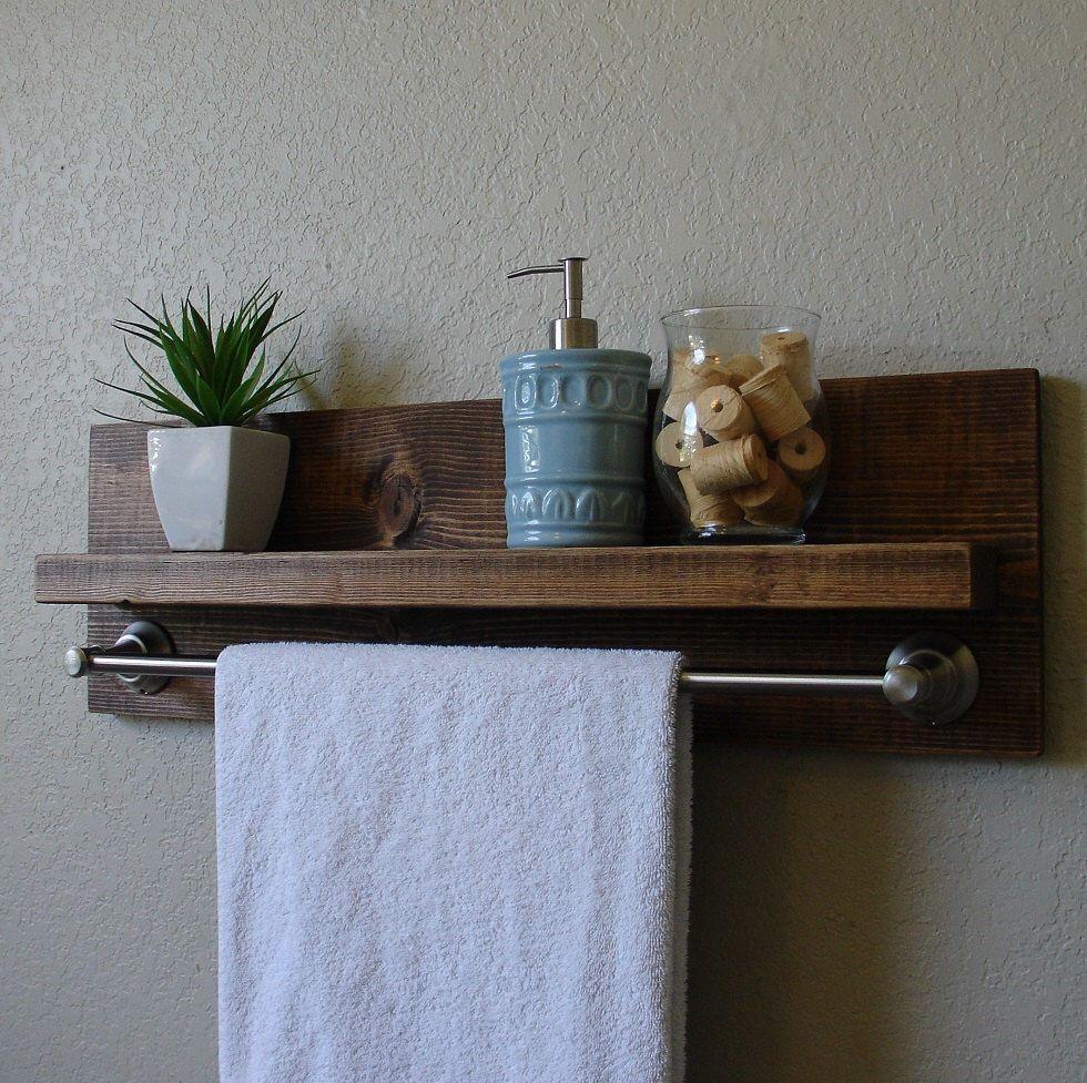 Simply Modern Rustic Bathroom Shelf w/ 24\