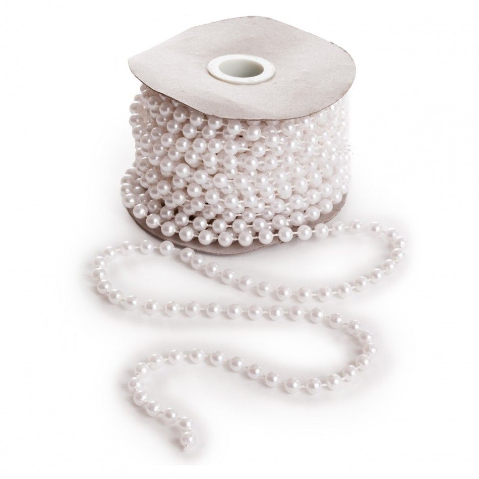6mm White Pearl String [EF 6mm White Pearl Strings] : Wholesale ...
