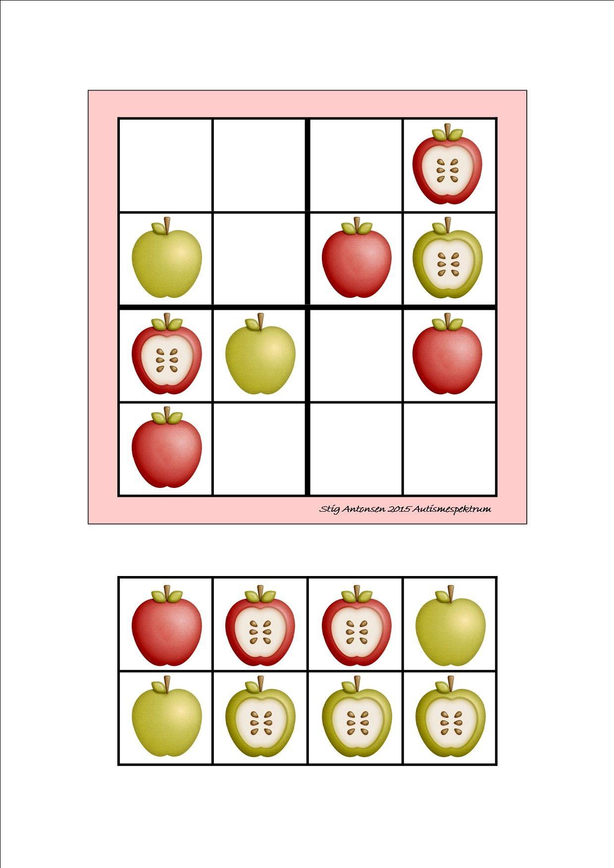 4 Worksheet Math Tile Puzzle By Autismespektrum