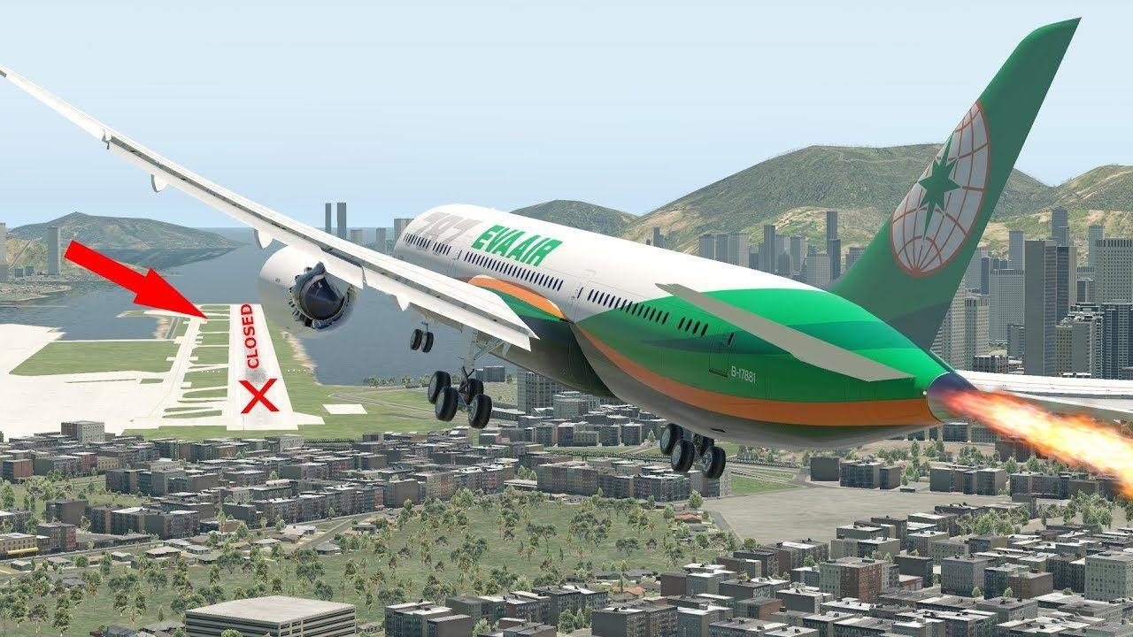 XPlane 11 Difficult Landing At Kai Tak Airport Almost