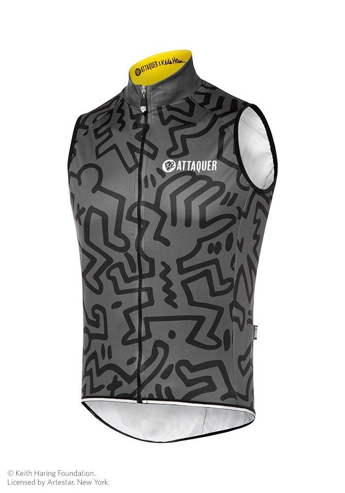 Attaquer x Keith Haring Gilet Black Grey  2681a2027