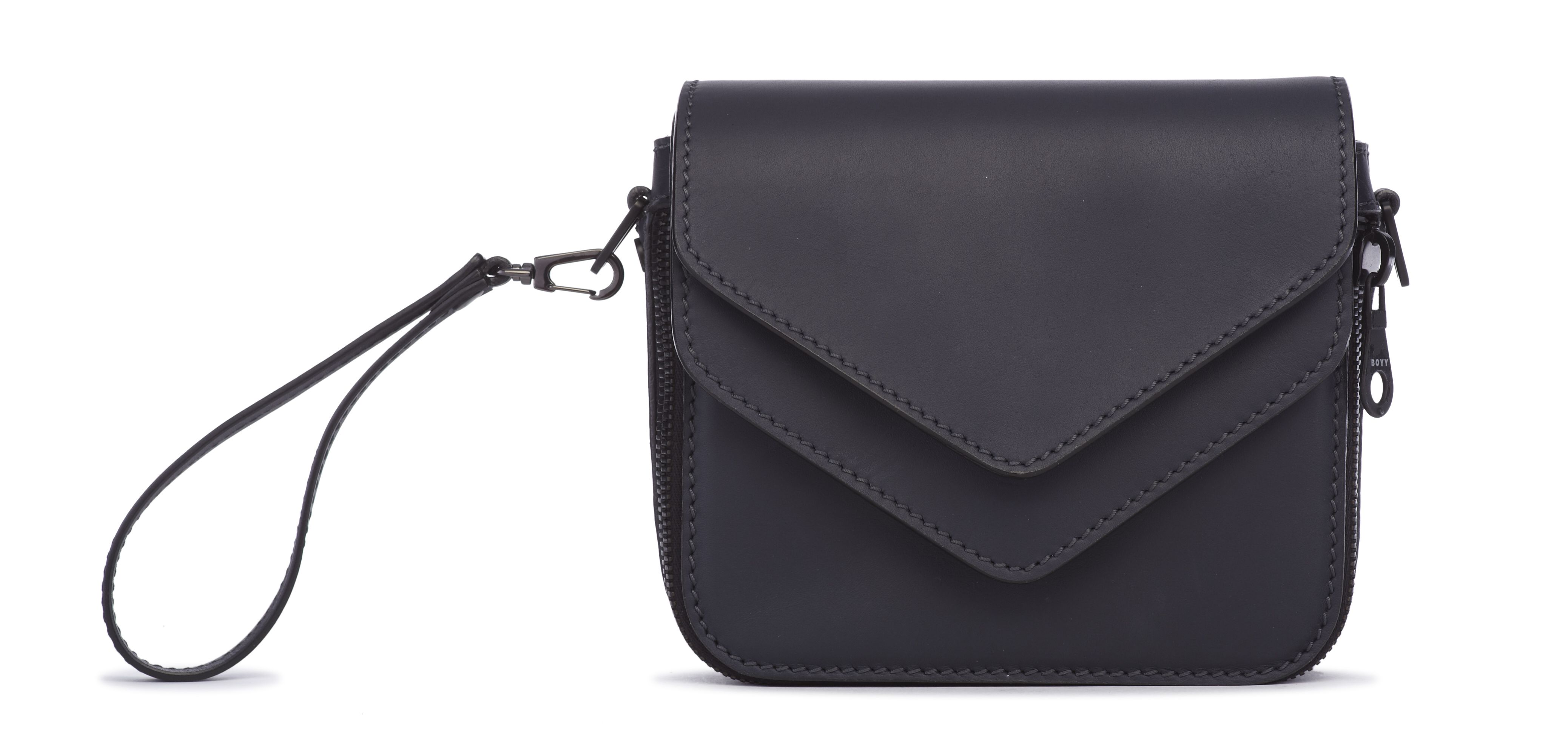 Filippo Black Flap Black Body Boyy Bags Handbags