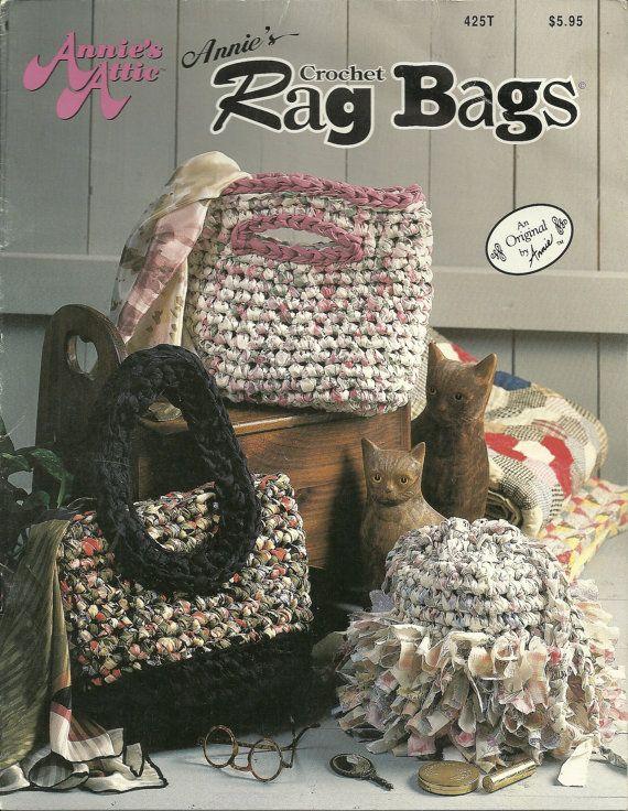 Vintage Crochet Rag Bags booklet ♡♡