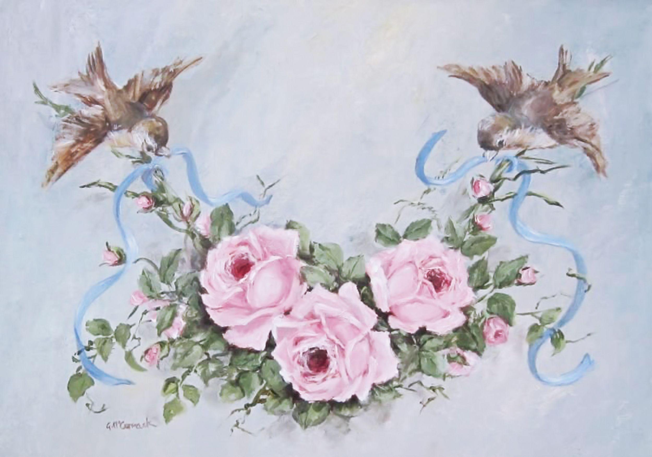 Картинки для декупажа свадебные цветы