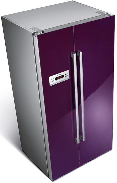 Bosch Side-by-side холодильник цвета баклажана