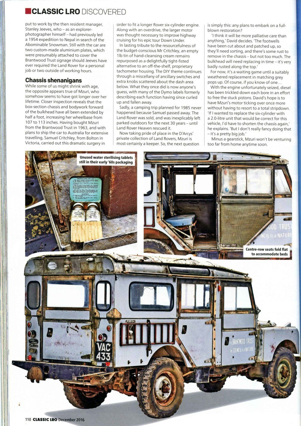 Article from Land Rover Owner International - December edition ...