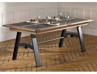 Table de salle à manger style atelier. Modèle New York en chêne et ...