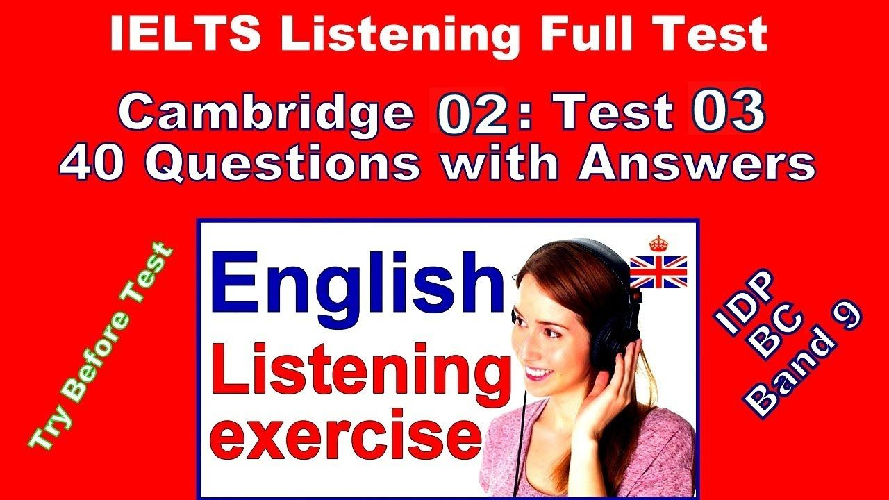 Cambridge IELTS 2 Listening Test 3 with Answers | BC | IDP