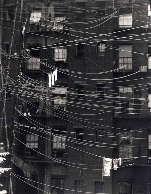 Clotheslines 1923, New York City, New York by Ralph Steiner.