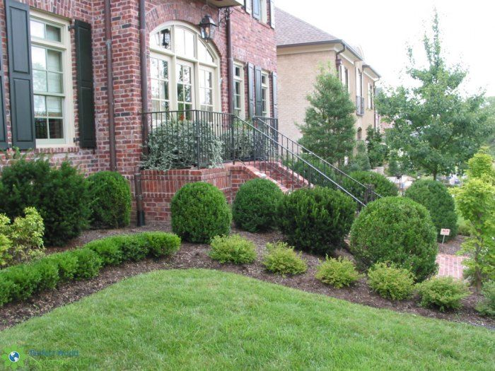 A Formal Front Landscape Designed By Perfect World