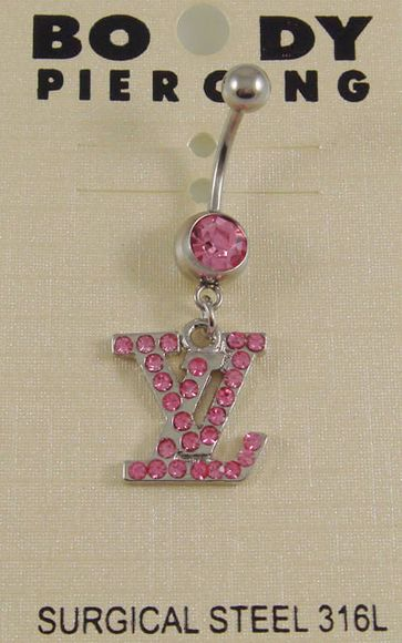 Louis Vuitton Pink Bellybutton Ring Belly Rings In 2019 Piercing
