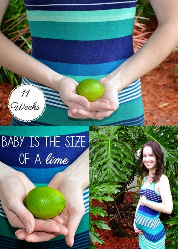 11 Weeks pregnant & baby is the size of a lime