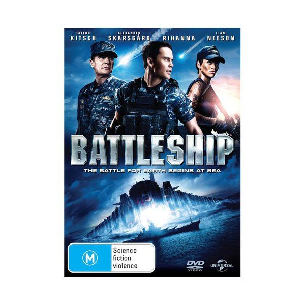 Product: Battleship [DVD] Format: DVD Catalogue No: D87262 Studio: Universal Certification: M Release Date: 2012-08-09 Region: Region 4 Duration: 131 minutes Discs: 1 disc(s) Produced (year): 2012 Colour: Colour Extras: Interactive Menu|Screen ratio 1:2.35|Dolby Digital Extras: BATTLESHIPTM:The Video Game Trailer