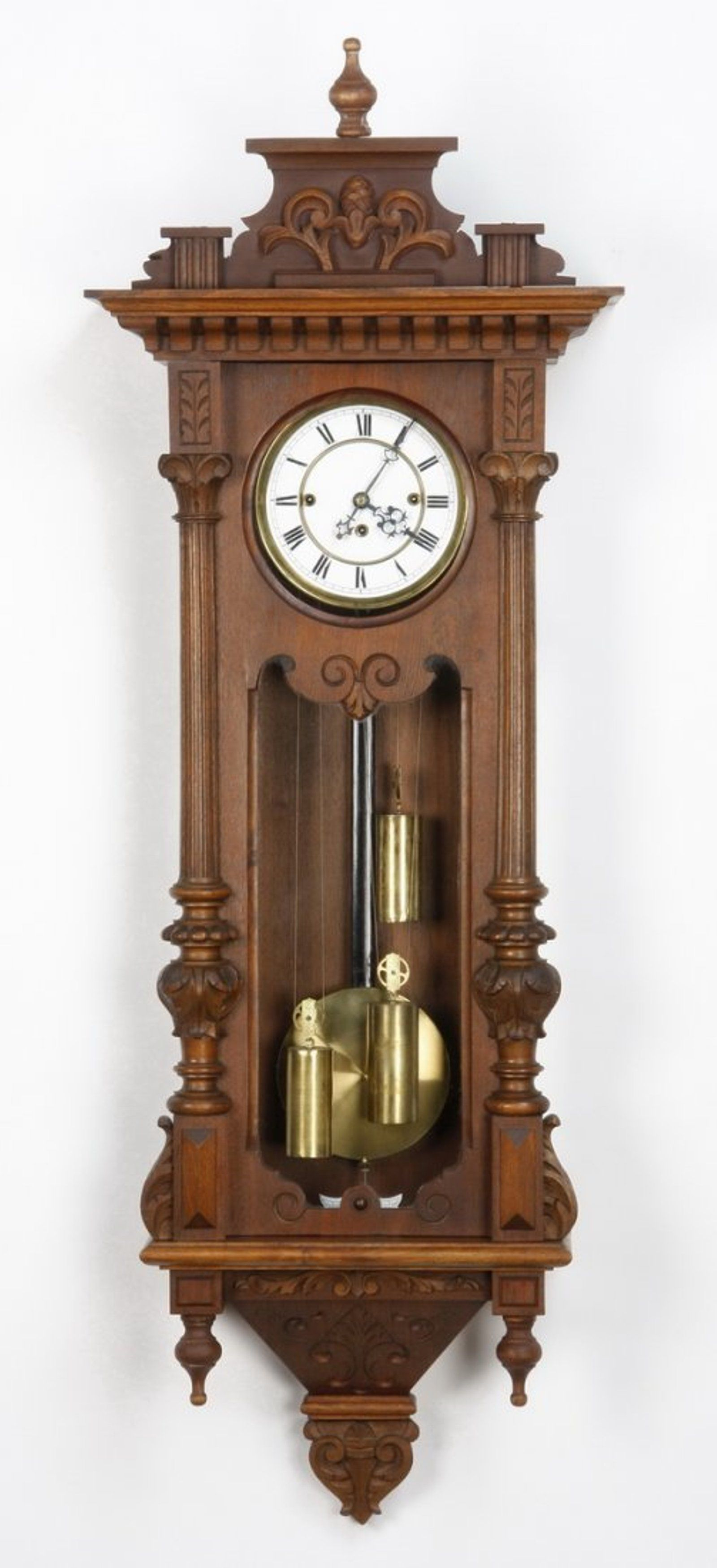 19th C 3 Weight Vienna Regulator Clock Muebles Antiguos  # Muebles Tik Tak
