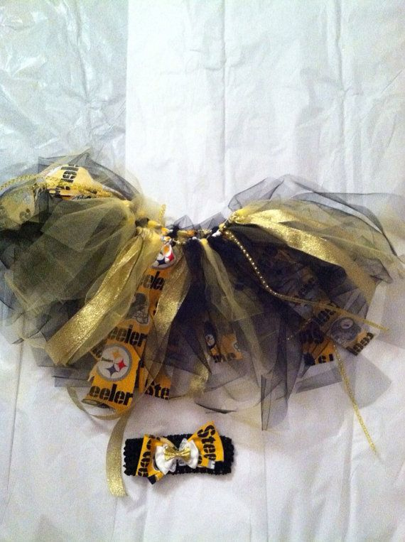 Free shipping Steelers tutu with matching head band on Etsy, $25.00