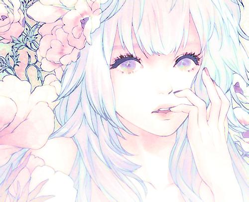 Love Pretty Art Girl Cute Anime Kawaii Heart Anime Girl