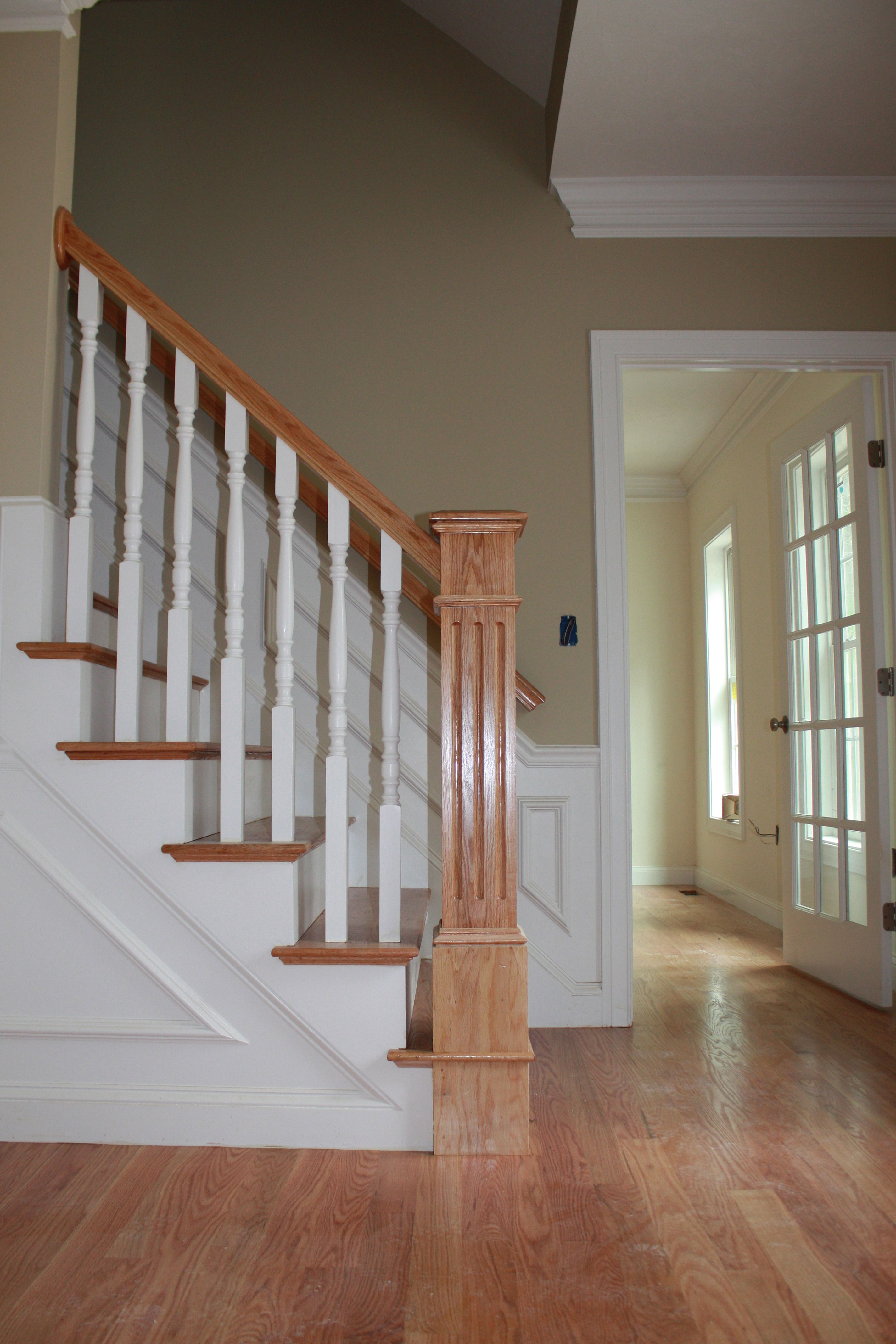 Best Oak Floors Stair Treads Newel Post And Rail Are Given An 400 x 300