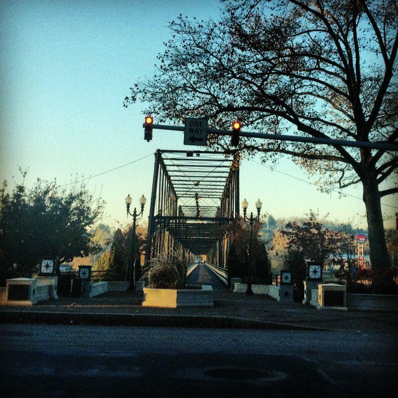 Bridge to City Island.... Start and stop of the holiday parade. #harrisburg #parade #holiday #holidayparade #pa #art #artassociation